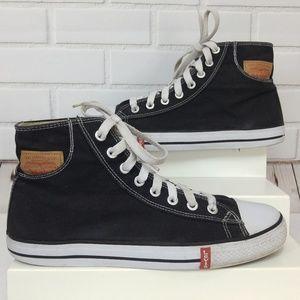 Levis Hi Top Canvas Sneakers Black Size 13